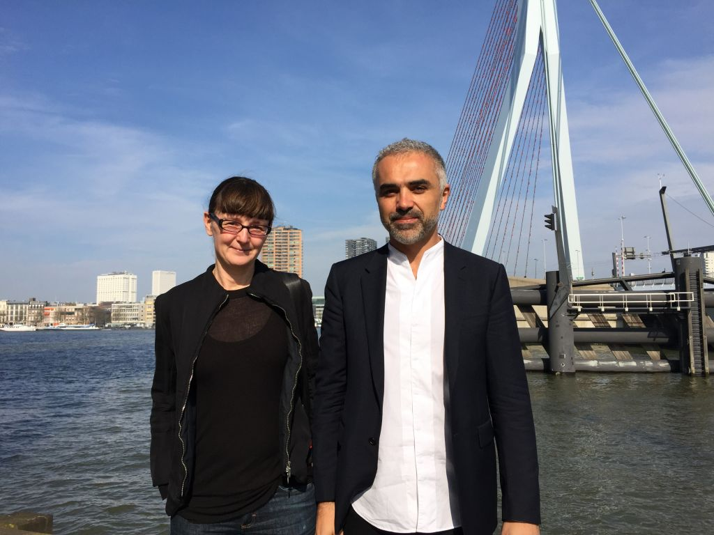 Felicity D. Scott with Adrian Lahoud (Dean of School of Architecture at the Royal College of Art in London)