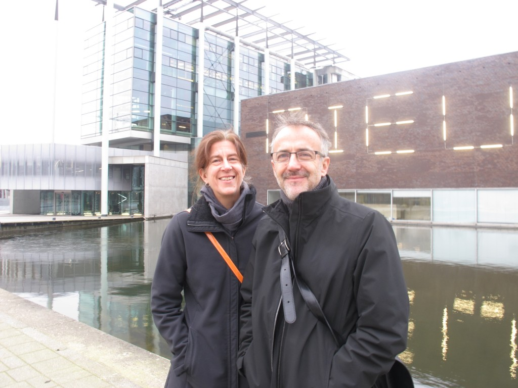 Sheila Kennedy and Frano Violich in front of Het Nieuwe Instituut.