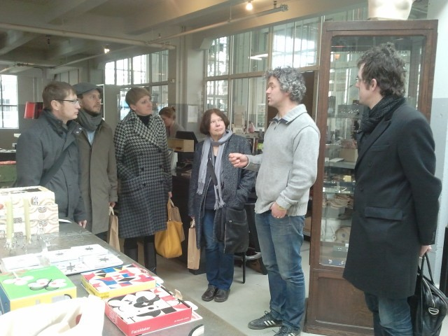 The Polish / Hungarian guests with designer Piet Hein Eek.